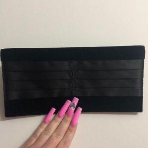 YSL clutch bag wallet velvet velour satin black